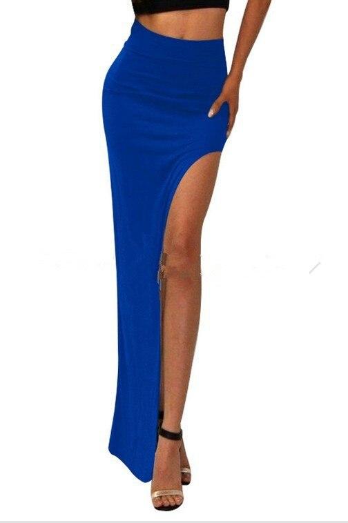 new 19 novelty Skirt Sexy Women Long Skirts Lady Empire Open Side Split Skirt high waist High Slit Long Maxi Skirts 2