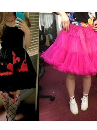 Womens Solid Color Tulle Skirts Fluffy Tutus Pettiskirts Tutu Skirts Big Girls Princess Party Skirt For Lady adult tulle skirt