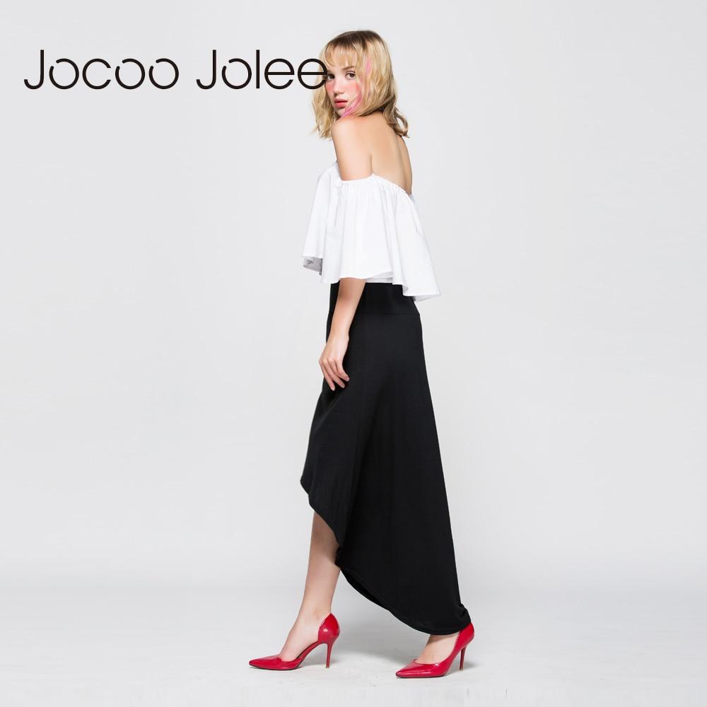 Jocoo Jolee Women Asymmetrical Skirt Swallow Tail Natural Waist Casual Party Beach Fitted Elegant Long Skirt Ladies Jupe 3