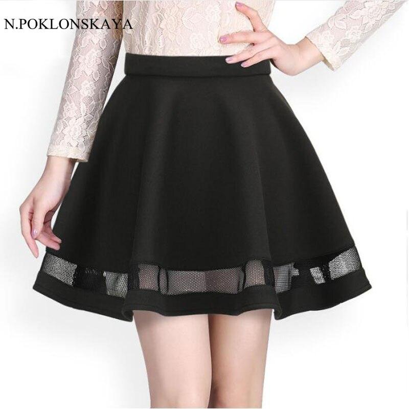 Fashion Grid women skirt elastic faldas ladies tulle midi skirt Sexy Girls lolita mini Pleated tutu skirts womens saias jupe