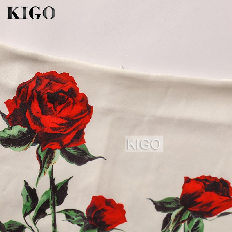 KIGO European and American Style Summer Print Midi Skirt High Waist Bodycon Skirt Sexy Ladies Slim Pencil Skirt Falda Saia K50 2