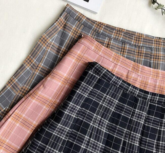 Wemon skirt Spring summer lattice Bouffancy Short skirt Paige A word skirt(Safety trousers in skirt) 2