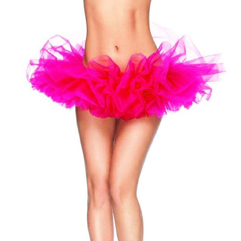 13 Colors Adult Petticoat Fancy Outfit Costume Tulle Tutu Skirt Lady's TUTU Mini Skirt Free Size 3