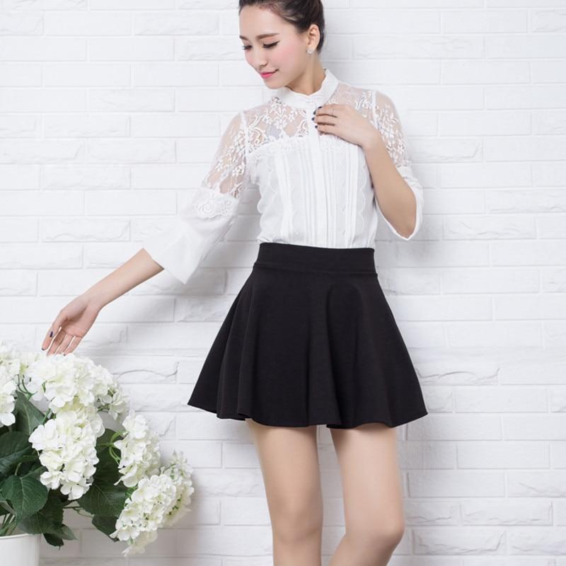 Brand Design Ball Gown for women Short Skirt girl Autumn And Winter Fit School Skirt Red Back Color Women Clothing Pleated skirt 2