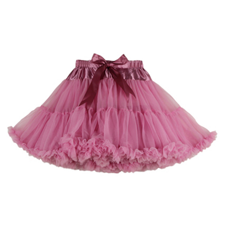 Womens Solid Color Tulle Skirts Fluffy Tutus Pettiskirts Tutu Skirts Big Girls Princess Party Skirt For Lady adult tulle skirt 3