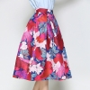 Red Skirt Print Cartoon A-Line Saias Midi Skirts High Waist Elegant Tutu Faldas Vintage 18 Retro Big Swing Red Skirt Print Cartoon A-Line Saias Midi Skirts High Waist Elegant Tutu Pleated Jupe Femme