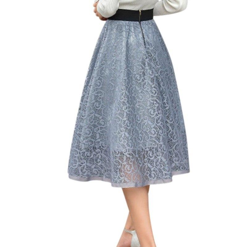 ROPALIA Mesh Women Solid Ball Grown Skirt Fashion Girls Empire Summer Spring Lovely Party Club Skirt 2