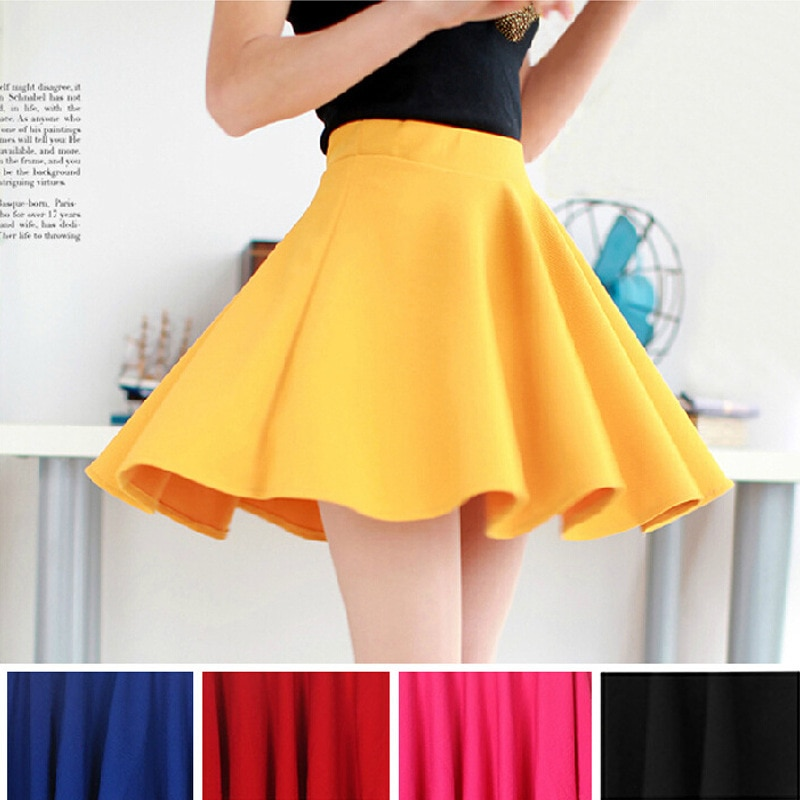 15 Hot Women Bust Shorts Skirt Pants Pleated Plus Size Fashion Candy Color Skirts 9 Colors C718 2