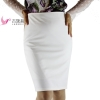 Autumn 4XL Plus Size Slim Sexy Formal Office Skirt Faldas Women High Waist Black White step Pencil Skirt Saias Skirts 18