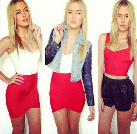 Free Delivery European and American fashion star Various colors cross bandage skirts 2