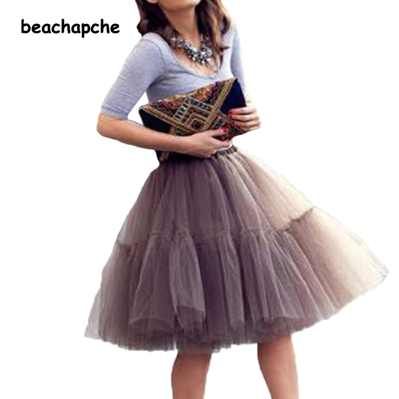 Fashion 5 Layer New 16 Tulle Skirts winter Mini skirt Women Fashion Party Design formal Skirts 1