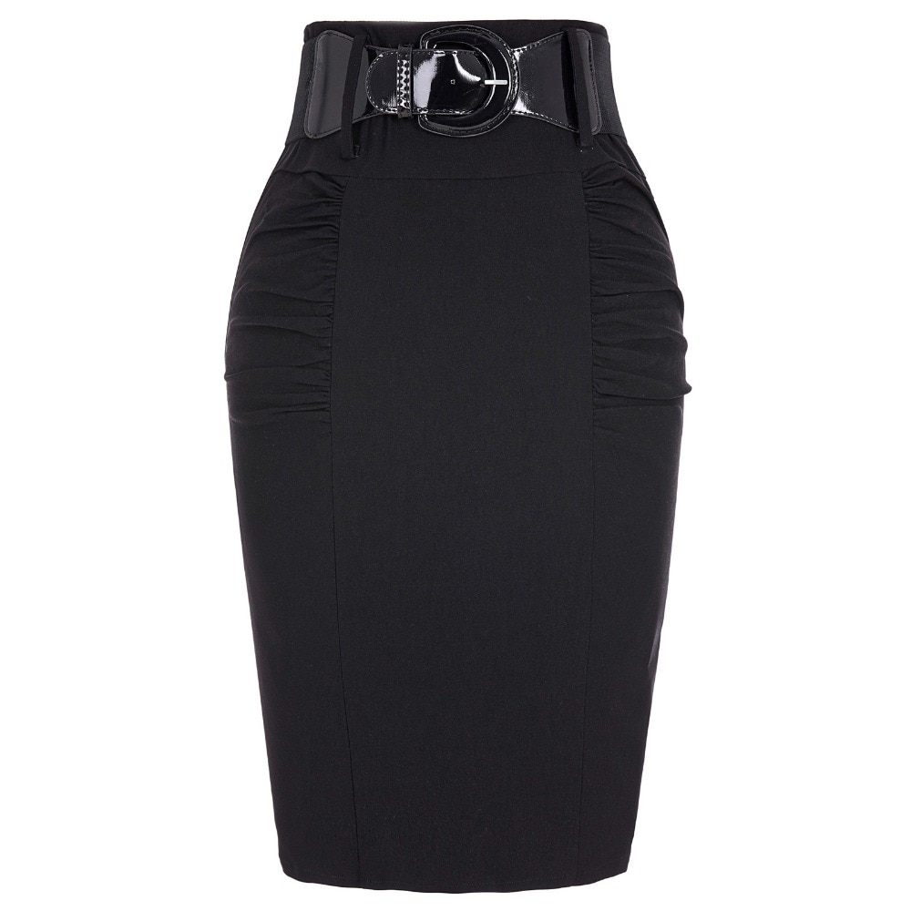 19 Sexy party pencil Skirts Womens Business Work Office Skirt sashes High Waist Elastic Bodycon Slim Fitting Ladies Skirts 1