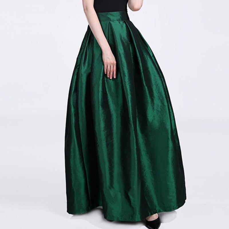 FOLOBE High Waist Party Dance Maxi Female Skirts New Style Womens Floor Length Hot Sale Ladies Long Summer Skirt