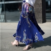 Long Princess Women Chiffon Pleated Skirt Vintage High Waist Big Bottom Skirts Womens Saia Summer Style Jupe Femme Skirt