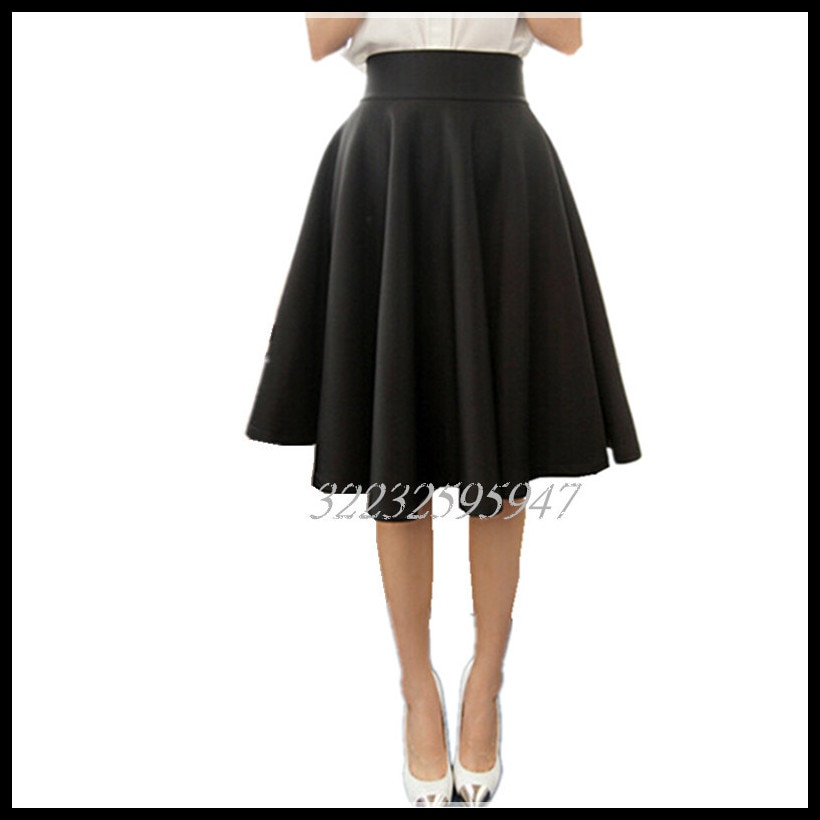 Paige Skirts Space cotton Autumn Winter Grown Place Umbrella Skirt Retro Waisted Body Skirt New Europe And The Code Word Pleated 3