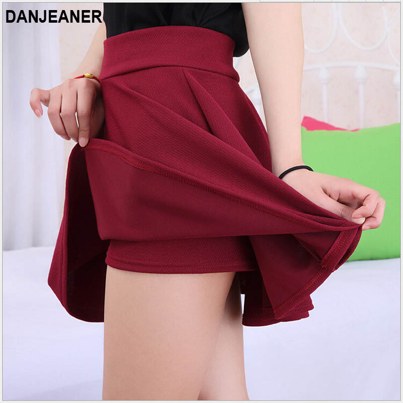 15 Hot Women Bust Shorts Skirt Pants Pleated Plus Size Fashion Candy Color Skirts 9 Colors C718 1