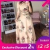 Women Summer Dress 19 Casual half Sleeve Long Dress Boho Floral Print Maxi Dress Elegant Dresses
