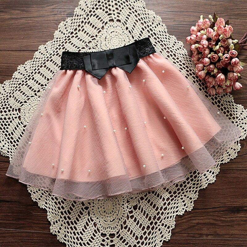 Fashion Women's Skirt Beads High Waist Skirt Pleated Floral Short Mini Skirt Skater Women Knee-Length Skirts 3