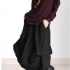 Original design European casual style Linen skirts casual style asymmetrical Women cotton linen skirts