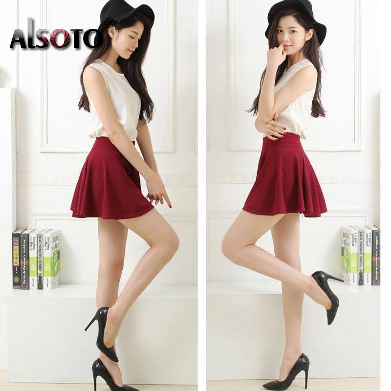 New 19 Summer sexy Skirt for Girl Korean cute Short Skater Fashion female mini Skirt Women Clothing saia Bottoms jupe faldas 3