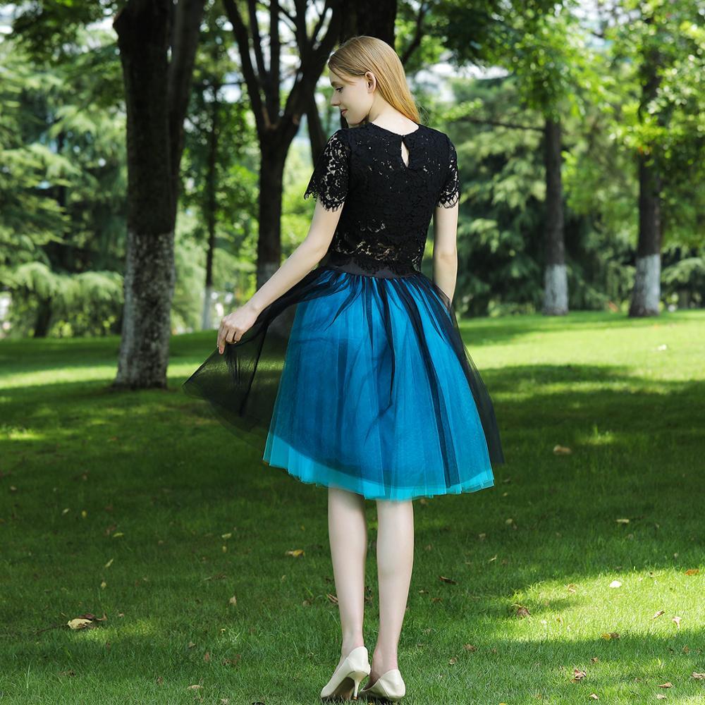 5 Layers 60cm Midi Tulle Skirt Princess Womens Adult Tutu Fashion Clothing Faldas Saia Femininas Jupe Summer Style 2