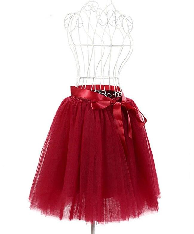 FOLOBE 7 Layers Ballet Dance Midi Tutu Tulle Skirts Women Skirt Lolita Petticoat faldas mujer saias Jupe TT-S 2