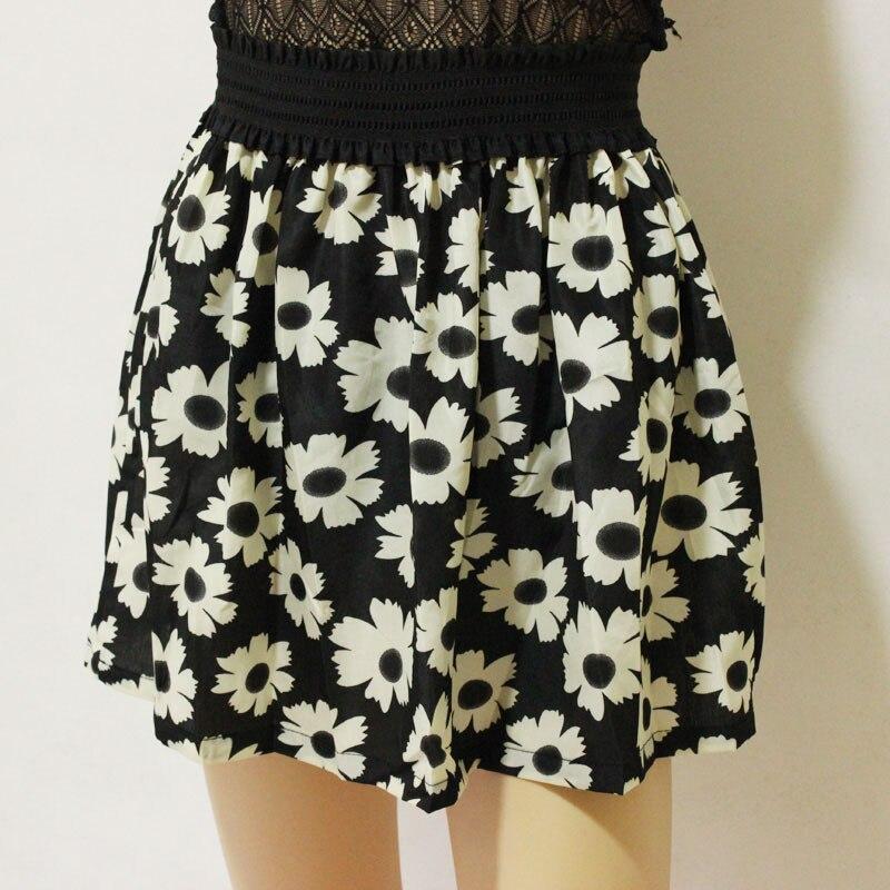 Jaderic 18 new fashion Pleated Retro High Waist Summer floral plaid short chiffon skirts mini skirt   10 Styles 3