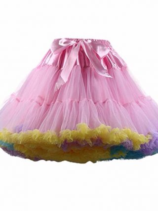 FOLOBE Women's Girls Tutu Skirts Costume Ballet Dancewear Skirts Multi-layer Puffy Skirt Luxurious Petticoat Underskirts TT004