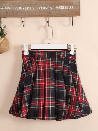 6 colors Plaid uniform skirts Korea Fashion Preppy Style Pleated Skirt Women Red Plaid Skirt School Uniform Girls Short Skirts