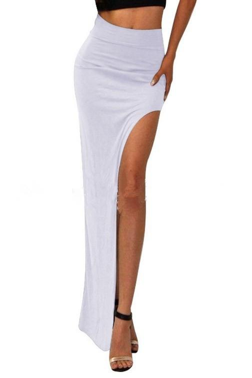new 19 novelty Skirt Sexy Women Long Skirts Lady Empire Open Side Split Skirt high waist High Slit Long Maxi Skirts 3