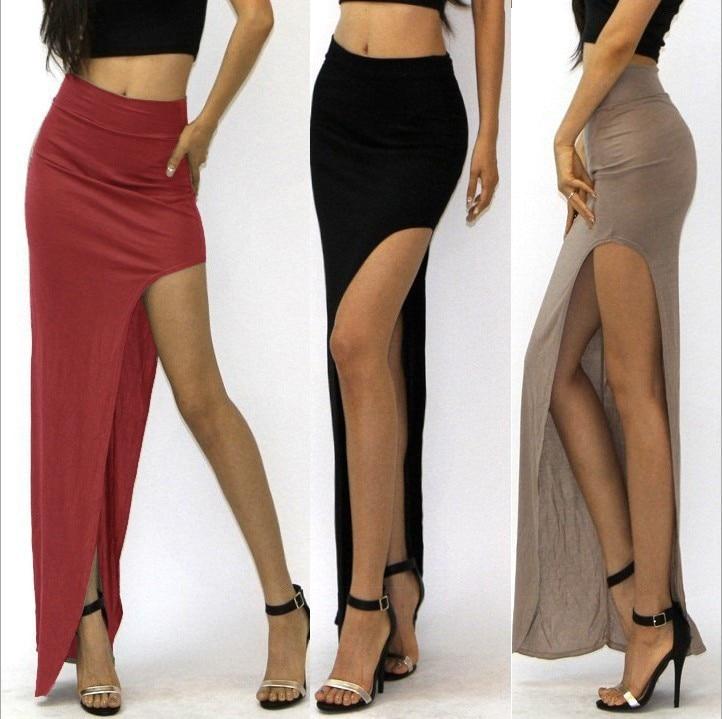 new 19 novelty Skirt Sexy Women Long Skirts Lady Empire Open Side Split Skirt high waist High Slit Long Maxi Skirts 1