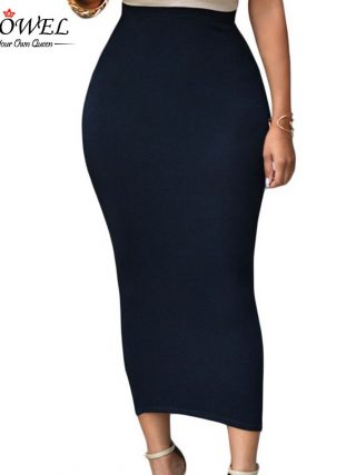 SEBOWEL Sexy Women Summer Bodycon Long Skirt Black High Waist Tight Maxi Skirts Female Club Party Wear Elegant Pencil Skirt 19