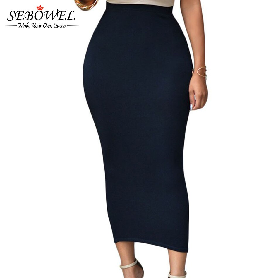 SEBOWEL Sexy Women Summer Bodycon Long Skirt Black High Waist Tight Maxi Skirts Female Club Party Wear Elegant Pencil Skirt 19