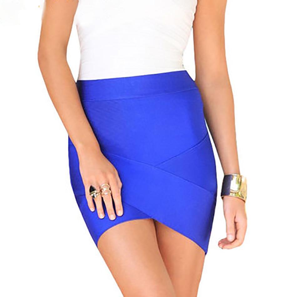 Women Hot Short Elastic Rayon Bandage Skirt Mini Sexy Slim Tight Pencil Night Club Party Candy 12 Colors Drop Shipping HL135-2 3