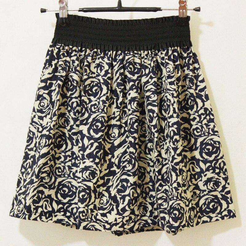 Jaderic 18 new fashion Pleated Retro High Waist Summer floral plaid short chiffon skirts mini skirt   10 Styles 2