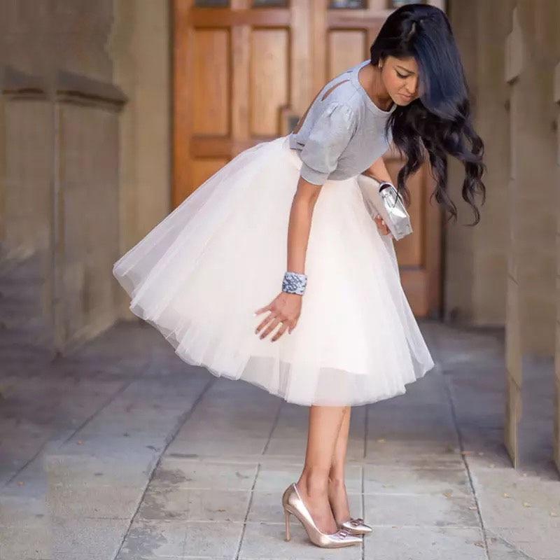 Party Train Puffy 5Layer 60CM Fashion Women Tulle Skirt Tutu Wedding Bridal Bridesmaid Overskirt Petticoat Lolita Saia 19 1