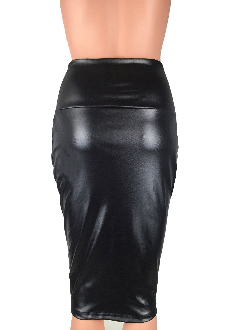Bohotcotol High waist faux Leather Skirt XXXL Black sexy Pencil skirts middle long Casual mermaid skirt party bar club travel 3
