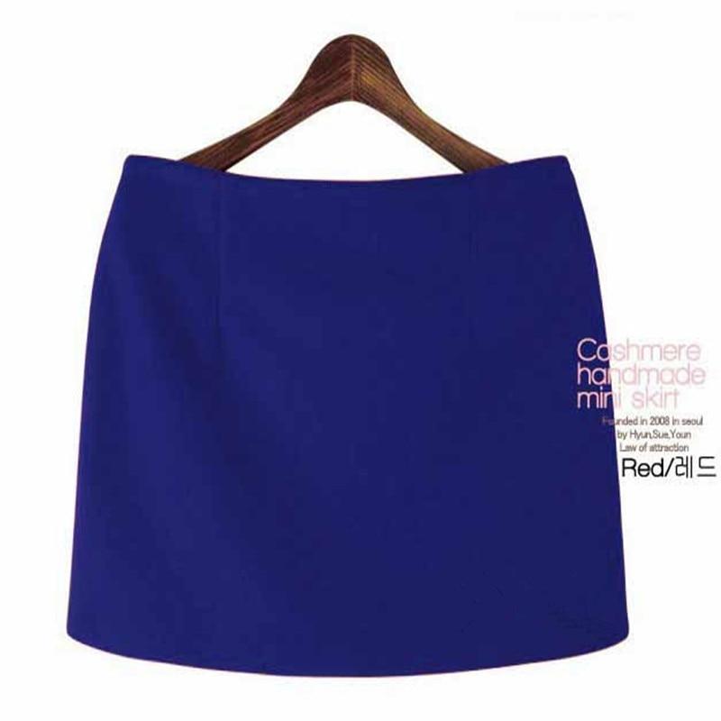 Fashion Autumn Winter Mini Skirts 16 Women Solid Slim A-Line Pencil Skirts Plus Size Candy Colors Korea Women Skirt 3