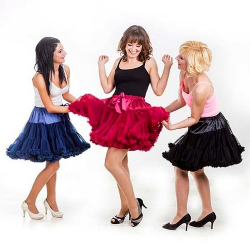Adult(one size) Child(XS-XXL) Women Pettiskirt Tutu Skirt Ball Gown 2 Layer 1 Lining Fluffy Party Dance Show Girl Skirt Clothing 1