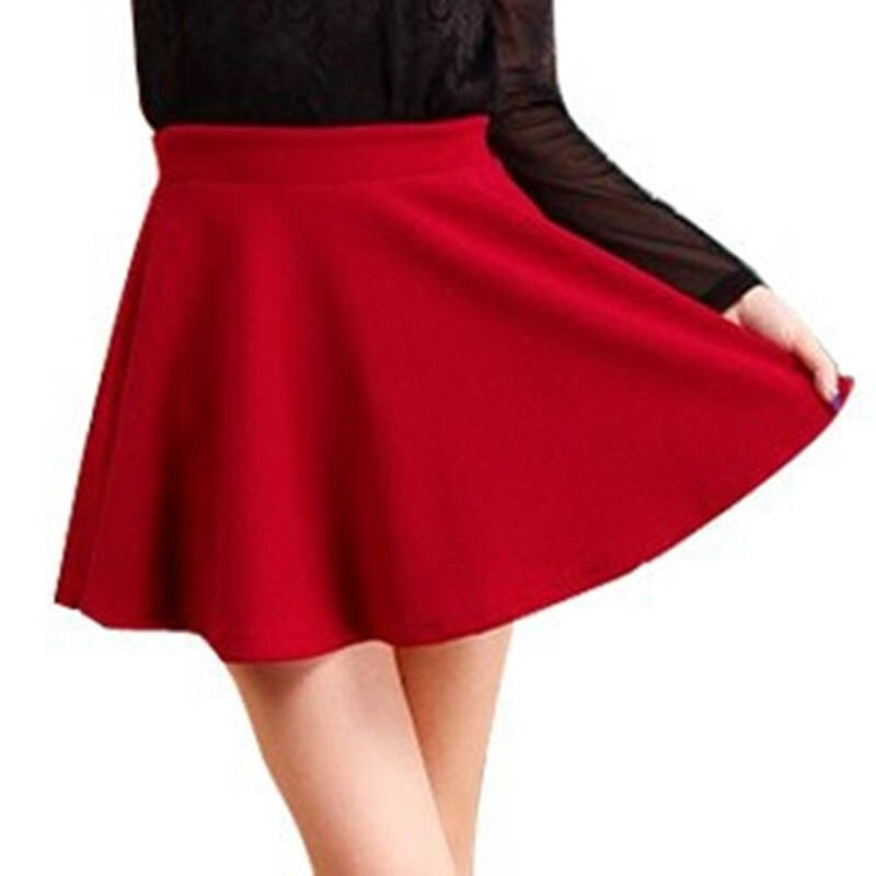 15 Hot Women Bust Shorts Skirt Pants Pleated Plus Size Fashion Candy Color Skirts 9 Colors C718 3