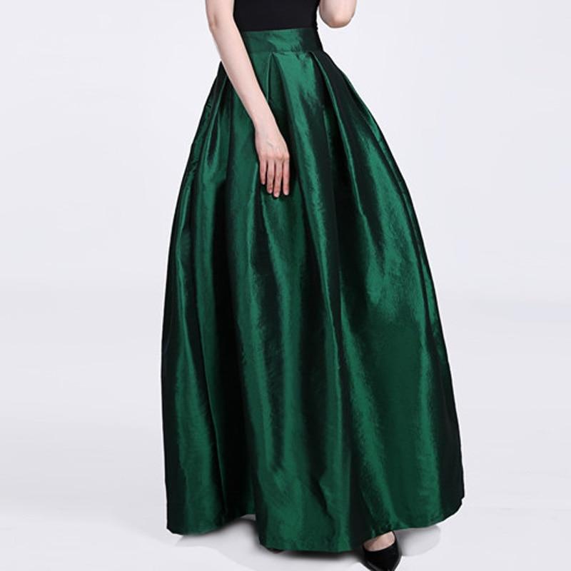 FOLOBE High Waist Party Dance Maxi Female Skirts New Style Womens Floor Length Hot Sale Ladies Long Summer Skirt 1