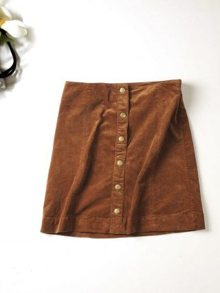 Fashion Casual Single Breasted Corduroy Skirts