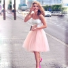 5 Layers 60cm Midi Tulle Skirt Princess Womens Adult Tutu Fashion Clothing Faldas Saia Femininas Jupe Summer Style