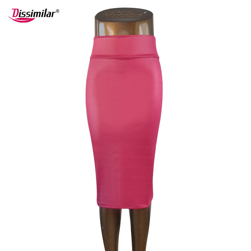 free shipping women office skirt high-waist faux leather pencil skirt black sexy elastic below knee skirt 10 colors XS/S/M/L/XL 3