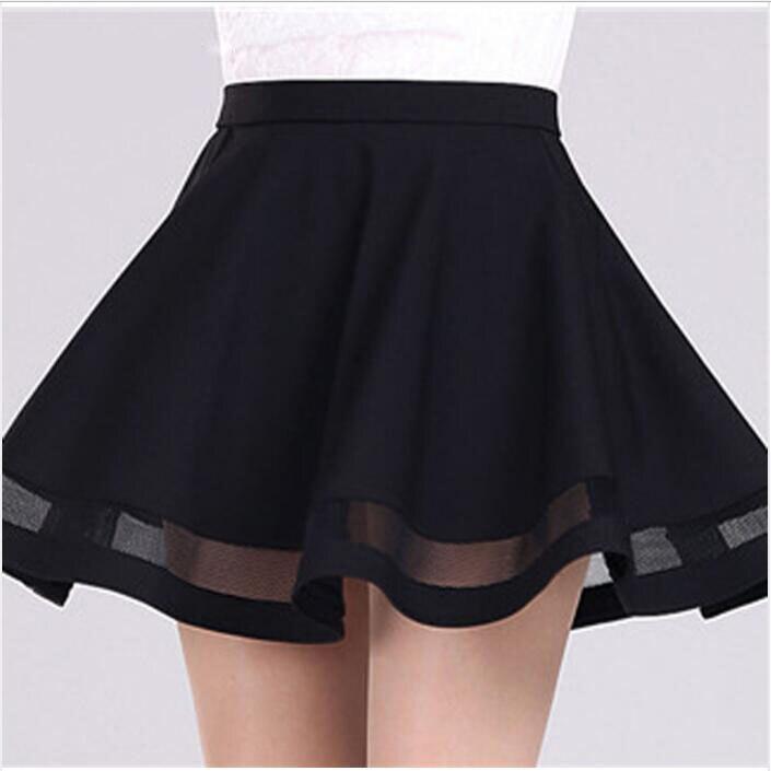 Fashion Grid women skirt elastic faldas ladies tulle midi skirt Sexy Girls lolita mini Pleated tutu skirts womens saias jupe 3