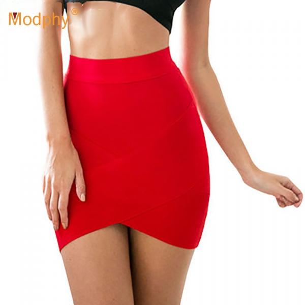 Women Hot Short Elastic Rayon Bandage Skirt Mini Sexy Slim Tight Pencil Night Club Party Candy 12 Colors Drop Shipping HL135-2
