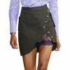 Self Portrait High Waist Mini Skirt 19 Summer Women Button Lace Patchwork Skirts