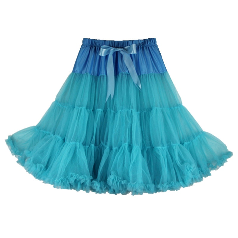 Sexy Solid Colors One Layer Fluffy Pettiskirts For Women Adult Dance Party Tulle Tutu Skirt With Ribbon Knotbow Joker Skirts Len 1
