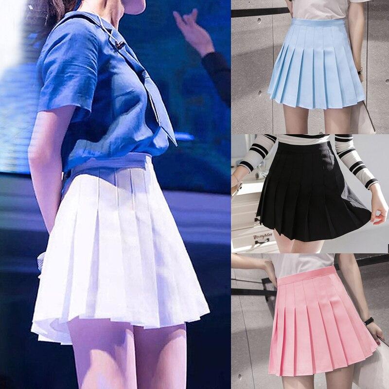 19 New Arrival Young Pleated High Waist Mini Skirts Summer Sweet South Korean Student Skirt Japanese school uniform Hot sales 1