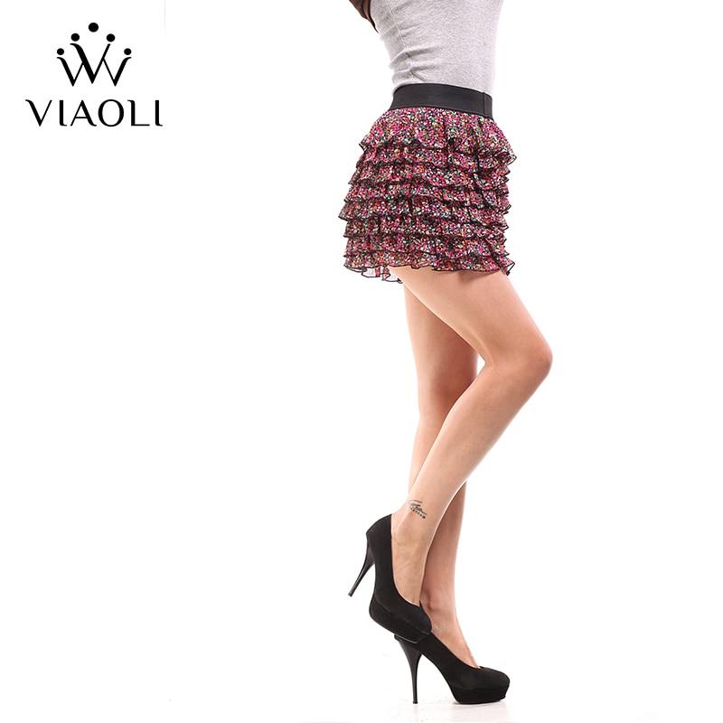 VIAOLI Women Fashion Sexy Lady Schoolgirl Cosplay Sleepwear Plaid Night Super Mini Pleated Skirt Short Skirt size XS S M L XL 1